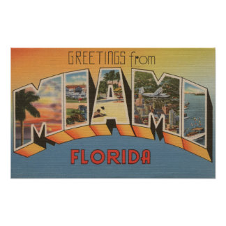 Miami, FloridaLarge Letter ScenesMiami, FL 2 Poster