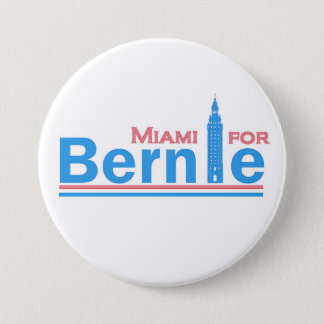 Miami for Bernie 3 Inch Round Button