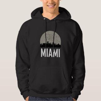 Miami Full Moon Skyline Hoodie