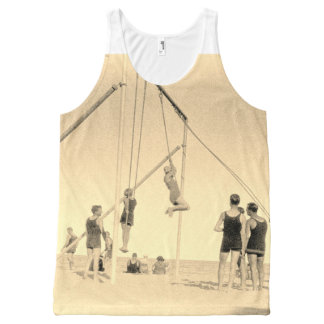Miami Gymnastics Beach 1920s Photo Motif Vest