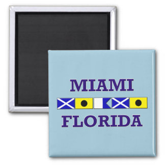 Miami Nautical Flag - Magnet