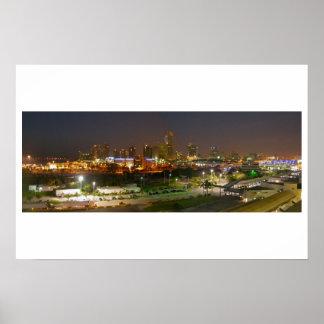 Miami Panoramic Night View Poster