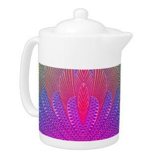 Miami Peacock Feather Teapot