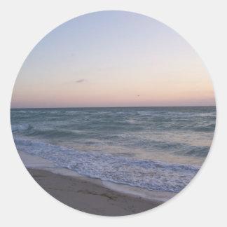 Miami Round Sticker