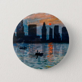 Miami Skyline 7 2 Inch Round Button