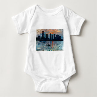 Miami Skyline 7 Baby Bodysuit