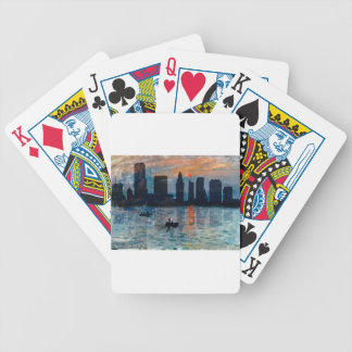 Miami Skyline 7 Bicycle Playing Cards