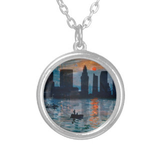 Miami Skyline 7 Silver Plated Necklace