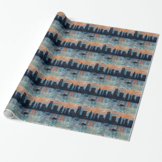 Miami Skyline 7 Wrapping Paper