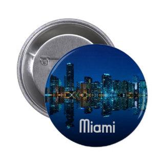 Miami Skyline at Dusk 2 Inch Round Button