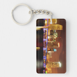 Miami skyline at night, Florida Keychain