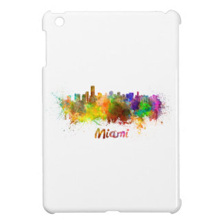 Miami skyline in watercolor iPad mini cover