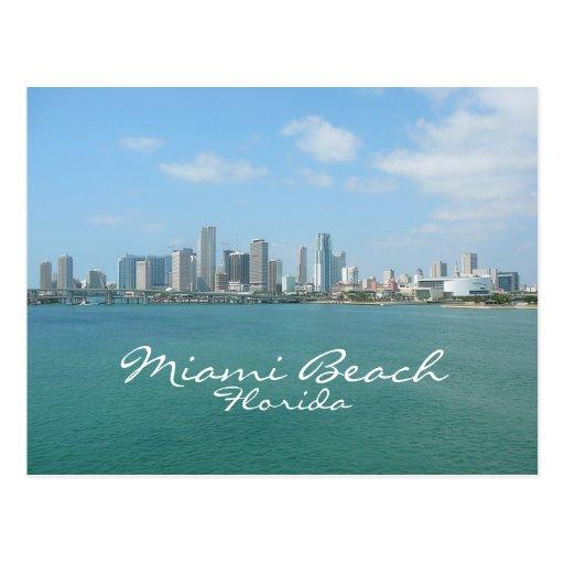 Miami Skyline, Miami Beach, Florida Postcards