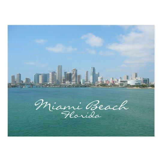 Miami Skyline, Miami Beach, Florida Postcard