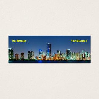 Miami Skyline Skinny Business Card