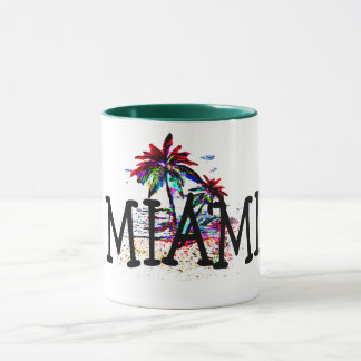miami summer beach fun palm tree travel coffee mug