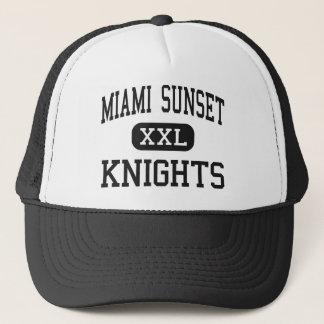 Miami Sunset - Knights - High - Miami Florida Trucker Hat