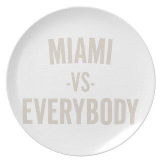 Miami Vs Everybody Plate