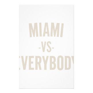 Miami Vs Everybody Stationery