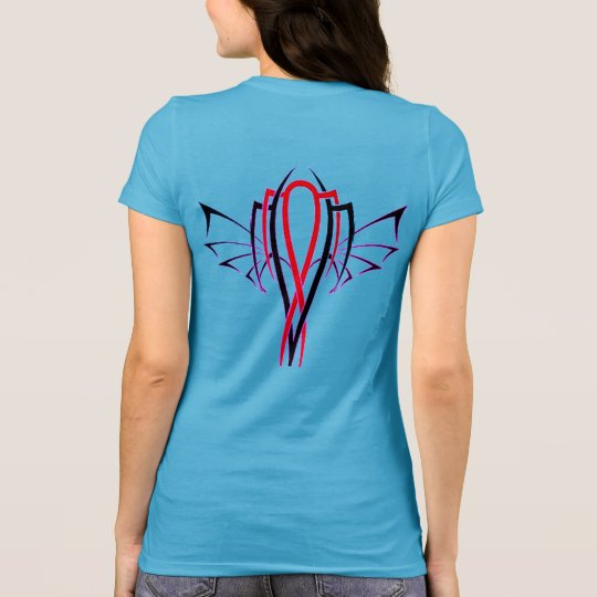 Miami Winged Pin Stripe T-Shirt