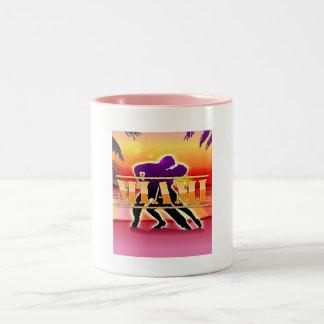 Miami Woman and Man Dancing Mug