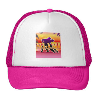 Miami Woman and Man Dancing Trucker Hat