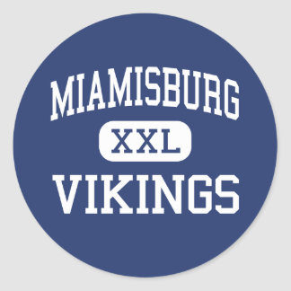 Miamisburg Vikings Middle Miamisburg Ohio Classic Round Sticker