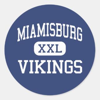Miamisburg Vikings Middle Miamisburg Ohio Round Sticker