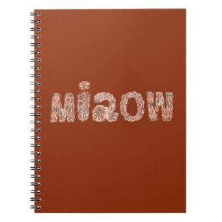 Miaow Spiral Notebook