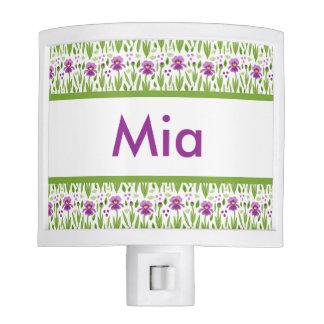 Mia's Personalized Iris  Night Light