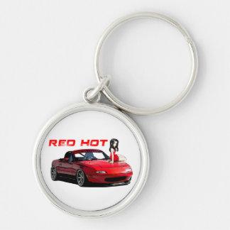 Miata MX-5 Red Hot Keychain