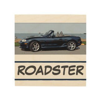 MIATA - ROADSTER WOOD WALL ART