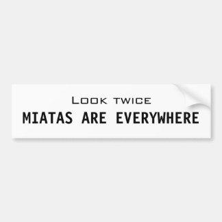 Miatas are everywhere bumper sticker