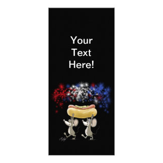 Mic And Mac's 4th Of July Night Picnic Bookmark Personalized Rack Card