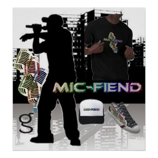 Mic Fiend Hip Hop Poster from I'm G Clothing