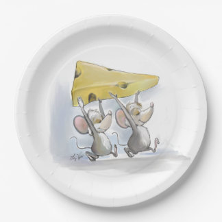 Mic & Mac Bringing In The Cheese Paper Plate