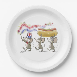 Mic, Mac & Moe's Happy 4th of July Paper Plate