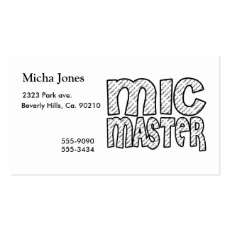Mic Master Funky Fresh Pack Of Standard Business Cards
