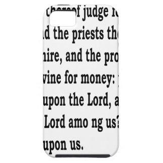 Micah 3:11 iPhone 5 case