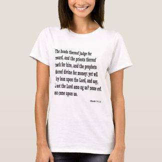 Micah 3:11 T-Shirt