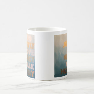 Micah 6:8 Gold and Teal Coffee Mug