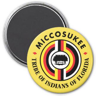 Miccosukee Tribe 3 Inch Round Magnet