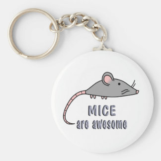 Mice are Awesome Basic Round Button Keychain