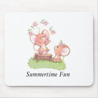 Mice having a little summer fun mouse pad