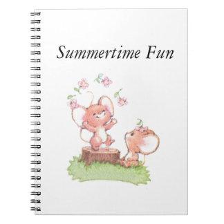 Mice having a little summer fun note books