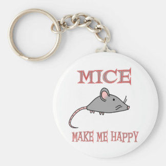Mice Make Me Happy Keychain