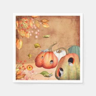 Mice Mouse Thanksgiving Illustration Paper Napkin