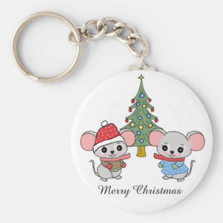 mice of Christmas Keychain