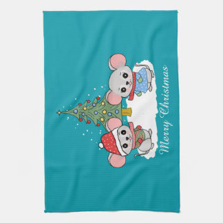 mice of Christmas Kitchen Towel