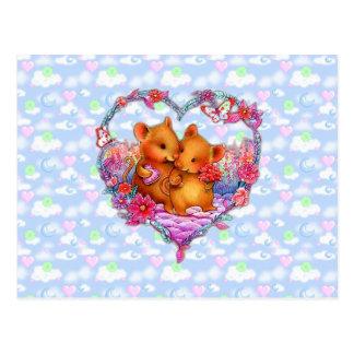 Mice of Love Postcard